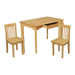 KidKraft - Avalon Table And Chair Set - Natural by Kidkraft - Our Avalon Table and 2 Chair Set is simple, elegant and would look perfect in any child�s room. The sturdy table is an ideal place for kids to finish up homework, play with their favorite toys or even eat a quick snack.