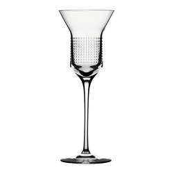 "Bomma - 6.8 oz Dots Collection Crystal White Wine Glass - Set of 2 - Set of 2 - The Dots 6.8 oz. white wine glass lets you simultaneously appreciate fine design and fine wine. The Dots collection was created as a drinking set with a technologically simple and logical space for decorating. In the middle of the drinking vessel, designer Olgoj Chorchoj placed a cylindrical body to serve as the ideal gallery for ornamental decor. Combined with Bomma's motto of ""technology through an ornament"", Chorchoj applied a number of elementary dot and dash machine interventions."