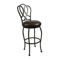 Pastel 30-in. Oxford Swivel Bar Stool - Autumn Rust - With its clean lines, casual design, and contemporary appeal, the Pastel 30-in. Oxford Swivel Bar Stool - Autumn Rust makes a great addition to your bar, den, or kitchen counter. The stylish back with interwoven loop pattern is sure to attract attention, even as the generous Ford Brown faux leather seat envelopes you in luxurious comfort all evening. Fully welded, heavy-duty steel construction makes this stool sturdy enough to withstand anything your active lifestyle might throw your way, while the five-step powder-coat Autumn Rust finish prevents rusting, ensuring it stays beautiful as the day you bought it even after years of use. What's more, the 360-degree swivel feature lets you stay up to speed with everything happening around you and the all-round footrest makes getting in and out of the stool a breeze. Sure to add a dash of casual elegance to your setting, this handsome bar stool will offer years of enjoyment. Please note: This item is not intended for commercial use. Warranty applies to residential use only.Additional features:Stylish back with interwoven loop patternAll-round footrest for easy getting in and outSimple assembly required