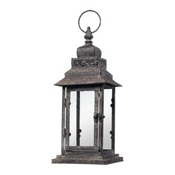 Sterling - Sterling 128-1010 Distressed Finish Hurricane Lantern - Sterling 128-1010 Distressed Finish Hurricane Lantern