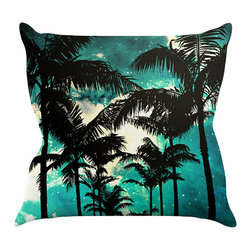 "Kess InHouse - Caleb Troy ""Palm Trees & Stars"" Throw Pillow (16"" x 16"") - Rest among the art you love. Transform your hang out room into a hip gallery, that's also comfortable. With this pillow you can create an environment that reflects your unique style. It's amazing what a throw pillow can do to complete a room. (Kess InHouse is not responsible for pillow fighting that may occur as the result of creative stimulation)."