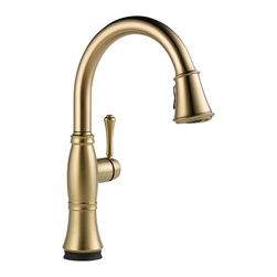 Delta Single Handle Pull-Down Kitchen Faucet with Touch2O(R) Technology - 9197T- - Classical design meets modern technology with a clean and simple silhouette.