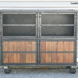 Vintage industrial/Mid Century Modern Bar Cart/Liquor Cabinet. Urban/Modern -