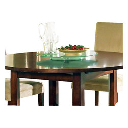 Steve Silver Furniture - Steve Silver Avenue Lazy Susan in Cherry - Nothing can transform your world in as many ways as the Avenue dining collection. The frosted lazy susan is 22 Inch round and add nothing but style to the avenue table.