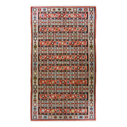 hand-woven village kilim - Semi-Antique Turkish Kilim   Sarkoy - Kilims are perhaps best described as the folk art of Turkey. The symbols and motifs used in weaving kilims are common amongst most weavers, but each tribal or regional group has their own way of interpreting those symbols. While many kilims are woven today for the commercial market, the same is not true of older kilim pieces. Until about 1975, the rug world was just not interested in kilims. Times have certainly changed! Kilims have made their way into the decor of the world, from palaces in the French countryside to the mountains of Colorado.