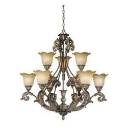Vaxcel - Monte Carlo 9L Chandelier - Vaxcel products are highly detailed and meticulously finished by some of the best craftsmen in the business.