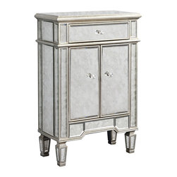 Elegant Lighting - Elegant Lighting MF1-1004SA Florentine Other Furniture and Antique Mirror - This Cabinet from the Florentine collection by Elegant Lighting will enhance your home with a perfect mix of form and function. The features include a Silver and Antique Mirror finish applied by experts. This item qualifies for free shipping!