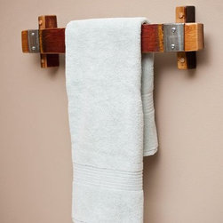 Barrel Stave Towel Rack - Ignite Images
