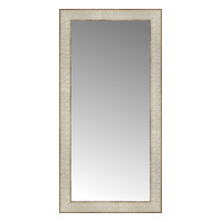 """Posters 2 Prints, LLC - 14"""" x 27"""" Libretto Antique Silver Custom Framed Mirror - 14"""" x 27"""" Custom Framed Mirror made by Posters 2 Prints. Standard glass with unrivaled selection of crafted mirror frames.  Protected with category II safety backing to keep glass fragments together should the mirror be accidentally broken.  Safe arrival guaranteed.  Made in the United States of America"""
