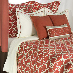 None - Rizzy Home Taza Queen-size 9-piece Duvet Cover Set with Insert - Slumber in sheets inspired by the patterns of Taza in this nine-piece contemporary coral-colored queen-size duvet cover set from Rizzy Home. Made from 100 percent cotton fibers,this bedding will fill your bedroom with sophisticated,worldly charm.