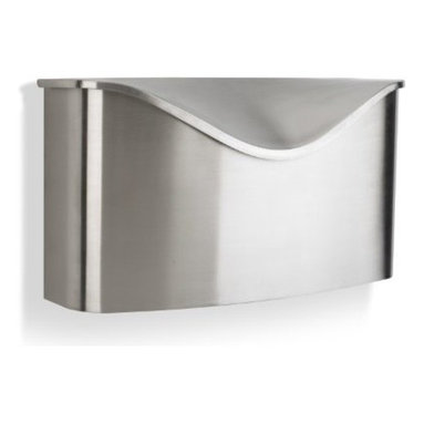 Umbra - Umbra Postino Wall-mount Mailbox, Stainless Steel - With its modern, simple design and sleek finish, the Postino mailbox by Umbra is a complimentary addition to the front door. Constructed of high-grade stainless steel with a brushed finish and hinged lid.