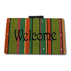 Welcome Contemporary L E D Light Up Coco Mat