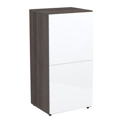 Nexera - Nexera Allure 1-Door Storage Unit - Allure 1-Door Storage Unit is part of the collection's modular design and can be paired with any other Allure storage modules to create your own ideal composition. The Allure 1-Door Storage Unit features 1 adjustable shelf behind reversible door and adjustable levelers. Allure Collection from Nexera is offered in a distinctive Ebony and White contemporary finish and proposes modular and flexible combinations for your entertainment room, home office area and your bedroom.