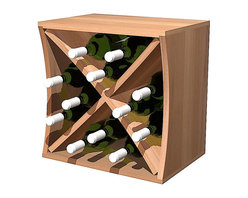 Wine Cellar Innovations - Curvy Wine Cube W/ Diamond Insert Concave - 12 Bottles, Unstained - This concave Curvy Wine Storage Cube is best matched up with its convex partner to make them curve. Our diamond insert will let this wine cube hold 12 bottles and makes having a wine collection fun and affordable. Each of these wine storage cubes is available to stack or be wall mounted and rack virtually anywhere due to their unique size and ergonomic assembly.  These unique wine racks are available in rustic pine and premium redwood with a large selection of stain options to match virtually any existing decor.