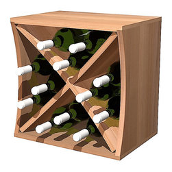 Wine Cellar Innovations - Curvy Wine Cube Individual Bottle Concave, Rustic Pine Classic Mahogany Stain - This concave Curvy Wine Storage Cube is best matched up with its convex partner to make them curve. With space for 9 bottles in the individual bottle storage,  this cube makes having a wine collection fun and affordable. Each of these wine storage cubes is available to stack or be wall mounted and rack virtually anywhere due to their unique size and ergonomic assembly.  These unique wine racks are available in rustic pine and premium redwood with a large selection of stain options to match virtually any existing decor.