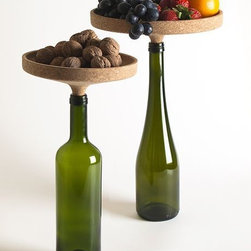 Appo Cork Centerpiece - This cork stand is both a bottle stopper and a serving piece for snacks — preferably those that pair well with a glass of wine. Plop it in the center of the table and you've added interest, height and, of course, nibbles to your tabletop as easily as it takes to unpop a bottle.