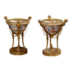 Consigned 18th Century Imari Bowls in 19th Century French Bronze Mounts - 18th Century Imari Bowls in 19th Century French Bronze Mounts