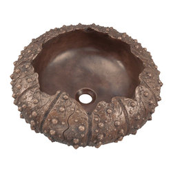 MR Direct - MR Direct 964 Single Bronze Vessel Bathroom Sink, *No Drain - The 964 Vessel sink is the newest addition to the MR Direct line of bronze sinks, and is perhaps its most distinctive. Modeled after the mysterious sea urchin, this pure bronze bowl will add a deep-sea allure to any bath. Its one-piece construction means this sink will last, and its classic antique patina means any minor scratches that could occur over time will be disguised. The 964 model has an 18'' diameter and a depth of 8'' with a centered drain. As always, our bronze sinks are covered under a limited lifetime warranty for as long as you own the sink.