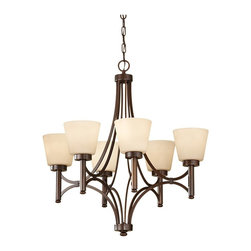 Murray Feiss - Murray Feiss F2670/6HTBZ Heritage Bronze Nolan 6 Light 1 Tier Chandelier with Co - Lamping Technologies:
