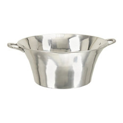 Benzara - Large Wine Beer Drinks Ice Bucket Party Planter - Large Wine Beer Drinks Ice Bucket Party planter. Aluminum metal Ice bucket party planter is must for any bar. Party planter is 8 inches in height and 22 inches wide.
