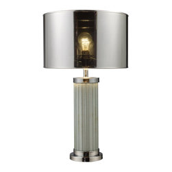 Dimond - Dimond Mont Alto Contemporary Table Lamp X-6951D - The unique construction of this Dimond contemporary table lamp makes it an eye-catching statement piece for reading nooks, foyers, living rooms and more. From the Mont Alto Collection, it blends Chrome and Mirror finishes with steel construction for added appeal and elegance.