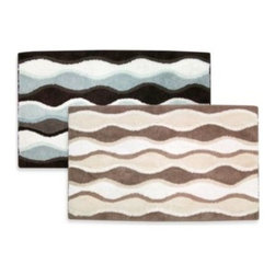 Park B. Smith - Ultra Spa by Park B. Smith 24-Inch x 40-Inch Magic Plush Ripple Bath Rugs - Bring eye-catching style to your bathroom with the Ultra Spa by Park B. Smith Magic Plush Ripple cotton bath rugs. The fun and quirky pattern goes with any decor to brighten up your bath space and enliven your mornings.