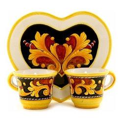 Artistica - Hand Made in Italy - Deruta Vario: Espresso 'Love Set' - Deruta Vario Collections: