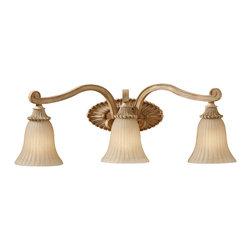 Feiss - Feiss VS18803-MAW Blaire Medium Aged Wood 3 Light Vanity - Feiss VS18803-MAW Blaire Medium Aged Wood 3 Light Vanity