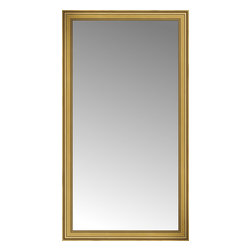 """Posters 2 Prints, LLC - 43"""" x 77"""" Arqadia Gold Traditional Custom Framed Mirror - 43"""" x 77"""" Custom Framed Mirror made by Posters 2 Prints. Standard glass with unrivaled selection of crafted mirror frames.  Protected with category II safety backing to keep glass fragments together should the mirror be accidentally broken.  Safe arrival guaranteed.  Made in the United States of America"""
