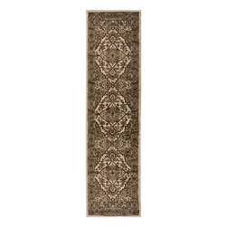 "Surya - Riley Rug RLY-5038 - 2' x 7'5"" - Both a bold zig-zag pattern and traditional organic pattern define the rugs in the Riley collection from Surya. While the zig zag pattern is a modern take on the traditional southwest style, the floral pattern of classic style is given a fresh perspective, combining it with geometric sections of different background colors. The Neural browns, tans and grays are delightfully balanced with a pop of cinnamon spice for added interest. Each rug is machine made in Turkey from 1% polypropylene."