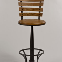 Hillsdale Furniture - Hillsdale Westview Swivel Stool in Steel Gray - The Westview Stool is a quirky statement-maker. Constructed of metal with a steel gray finish, the Westview is complemented by a wooden, light oak-finished seat bearing a strong resemblance to old school desk chairs. It is a 360 degree swivel stool, and is available in bar and counter heights. Some assembly required.  - 5441-826-ST.  Product features: Constructed of metal with a steel gray finish; Complemented by a wooden, light oak-finished seat bearing a strong resemblance to old school desk chairs; 360 degree swivel stool; Available in bar and counter heights; Some assembly required. Product includes: Barstool (1). Swivel Stool in Steel Gray belongs to Westview Collection by Hillsdale.