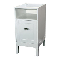 Bellaterra Home - 16 in Cabinet-wood-white - The ultimate mix and match vanities.