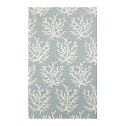 Surya - Surya Boardwalk BDW-4010 (Powder Blue, White) 8' x 11' Rug - The two-toned rugs of the Boardwalk collection come in sky blues, ocean greens, and sandy greys. In the same way the lapping of waves inspires relaxation, the ultra-comfortable wool used in the construction of these rugs will have a similar effect.