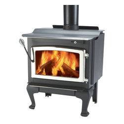 Majestic Products - Monessen WR1500L02 Windsor Non-Catalytic Wood Burning Stove - Monessen WR1500L02-Windsor Steel Wood Stove - Medium with Cast Legs