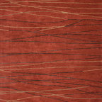 Jaipur Rugs - Modern Geometric Pattern Red /Orange Wool/Silk Tufted Rug - BQ10, 8x11 - The Baroque collection has a simple modern aesthetic.Hand tufted in 100% wool each rug is beautifully colored to reflect todays home trends.