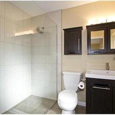Transitional Bathroom by Design Platform