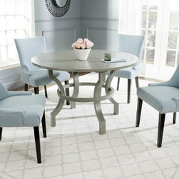 Safavieh - Safavieh Ludlow Ash Grey Round Dining Table - A versatile addition to casual or formal homes,the Ludlow round table is designed for dining rooms or breakfast nooks,but it can also grace an entry hall.