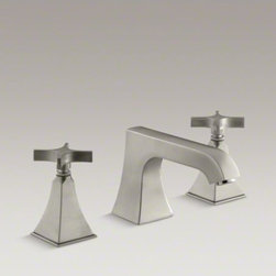 KOHLER - KOHLER Memoirs(R) Stately deck-mount bath faucet trim with non-diverter spout an - Add classic details to your bath with this Memoirs deck-mount bath faucet trim. Featuring a spout and ergonomic cross handles, this faucet trim brings both comfort and sophistication to your bathroom. When paired with high-flow ceramic disc valves, this trim offers optimal performance.