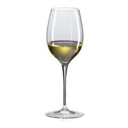 Ravenscroft Crystal - Crystal Loire Wine Glasses - Elegant and artful, this set of Ravenscroft stemware deserves a place in your serving options. Ideal for Loire & Sauvignon Blanc wines, each glass has a curved bowl, slender stem and wide, rounded base. 12 ounce capacity works well at mealtime and afterwards. Set of 4. As featured in Wine & Food and In Style Magazine. Capacity: 12 oz.. 8.75 in. H. Best with Bordeaux (white), Chenin Blanc, Fume Blanc, Gewurztraminer, Pouilly-Fume, Sancerre, Sauvignon Blanc and Semillon varietalsThe Ravenscroft Crystal Loire/Sauvignon Blanc glass is unmatched in its ability to amplify the bouquet of the focused precise of great Sauvignon Blanc. The wide bowl and tight chimney concentrates and amplifies the pure and precise bouquets of high perfume whites to their full potential concentrating their delicate fresh perfume. Hand crafted in Europe from the finest brilliant lead-free crystal.