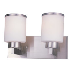 Z-Lite - Z-Lite 312-2V-BN Cosmopolitan 2 Light Bathroom Vanity Lights in Brushed Nickel - This 2 light Vanity from the Cosmopolitan collection by Z-Lite will enhance your home with a perfect mix of form and function. The features include a Brushed Nickel finish applied by experts. This item qualifies for free shipping!