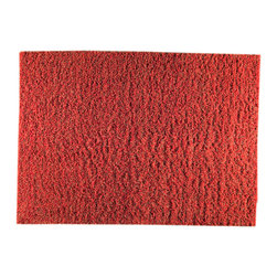 Mat The Basics - Mat The Basics Tokyo Red and Orange Shag Rug - This modern rug is handmade by a 3rd generation company along the banks of the Ganga River in India using master craftsman and the finest yarn. Its construction is based on the fundamental melding of touch and design. An affordable, well designed product in contemporary style.