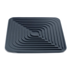 Flume Draining Mat, Dark Gray