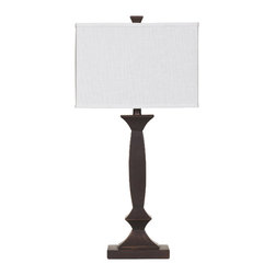 """Signature Design by Ashley - 30"""" Laine Set of 2 3-Way Table Lamps Bronze - Famous Brand Lamps presents the Set of (2) 1-Light Laine Table Lamps, featured in Bronze finish and complemented by a White Shade, creating a harmonious and captivating ambience in the home"""
