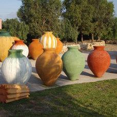 Mediterranean Outdoor Planters by MediterraneanGardenPots