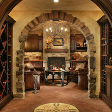 Mediterranean Wine Cellar by Carisa Mahnken Design Guild