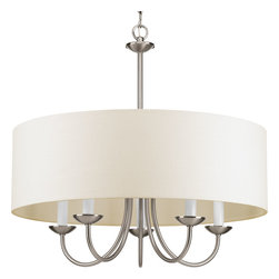 Progress Lighting - Progress Lighting P4217-09 Five-Light Chain Hung Fixture Off-White Linen Fabric - Five-light Chain Hung Fixture. Coordinate with a variety of collections including Inspire, Gather and Heart.