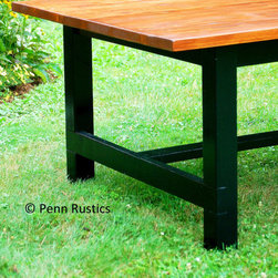 Country Rustic Farmhouse Dining Room Table & Benches - Penn Rustics, LLC - Hope Stambaugh