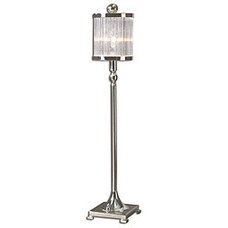 Indoor Cordelia Silver Plated Buffet Lamp | Overstock.com