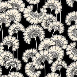 Kate Spade Japanese Floral Wallpaper - I love the strong graphic impact of Florence Broadhurst's Japanese Floral pattern; this wallpaper would look beautiful in a bedroom, entryway or dining room.