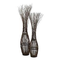 Cyan Design - Cyan Design Tall Twig Tree Sculpture in Dark Pecan - Tall Twig Tree Sculpture in Dark Pecan